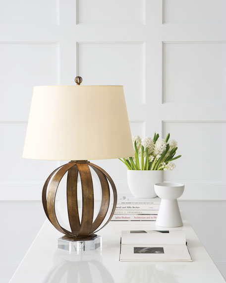 Metal Banded Table Lamp