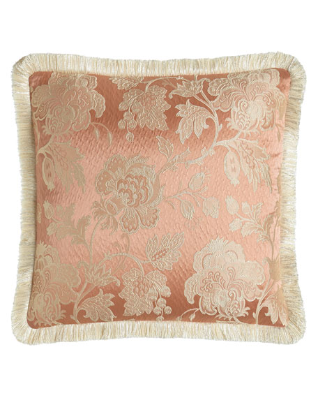 "Primrose Pillow with Fringe, 20""Sq."