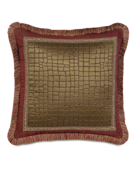 "European Barrington Kincade Coin Pillow, 27""Sq."