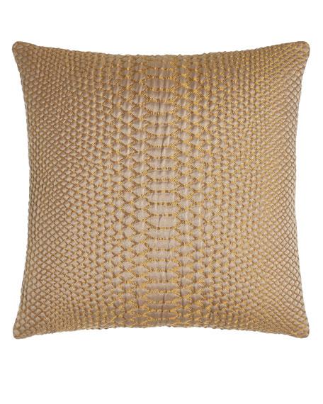 """D'Or Metallic Pillow, 20""""Sq."""