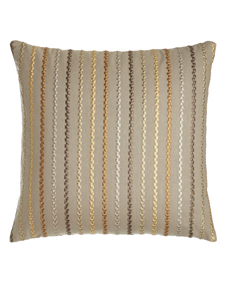 "D'Or Stripes Pillow, 22""Sq."