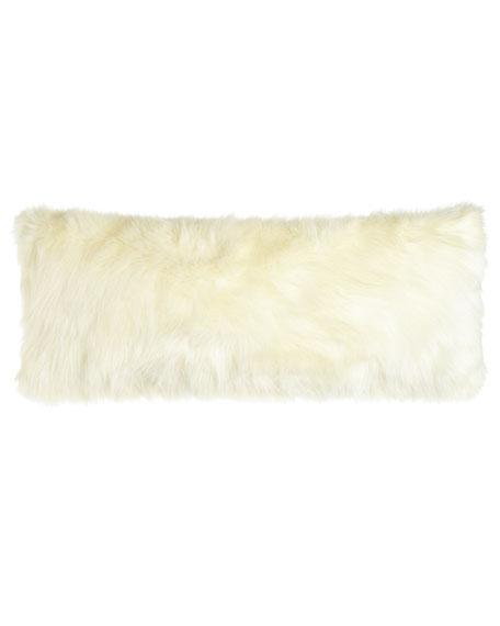 """Pearl Shag Faux-Fur Pillow, 15"""" x 35"""""""