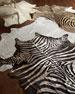 Lux Zebra-Print Hairhide Rug, 6' x 7'