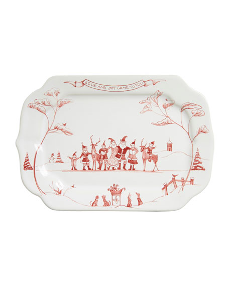Country Estate Winter Frolic Love & Joy Gift Tray
