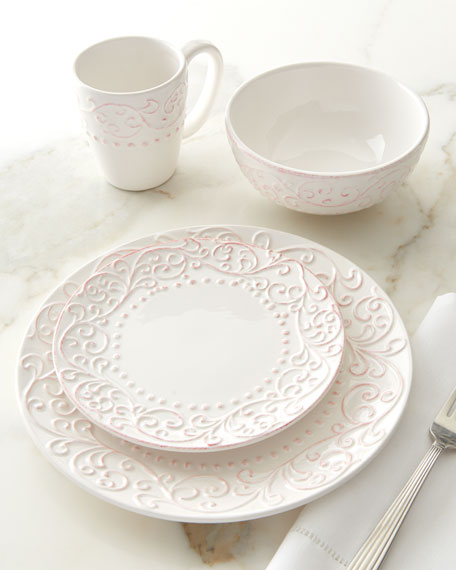 16-Piece Bianca Scroll Dinnerware Service