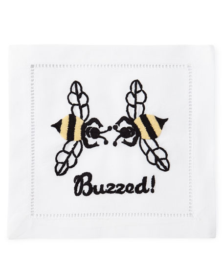 """Buzzed"" Cocktail Napkins, Set of 4"