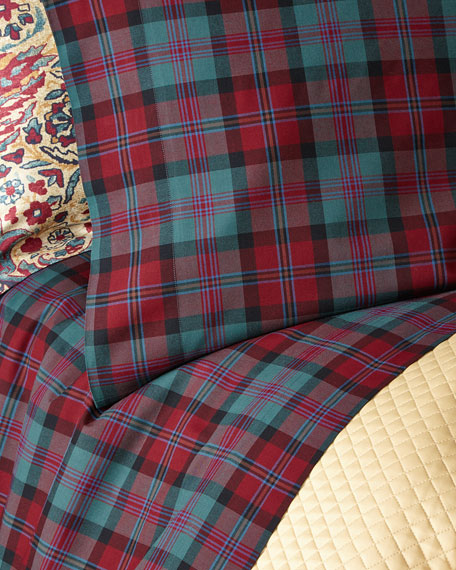 King Bohemian Muse Ardmore Plaid Fitted Sheet