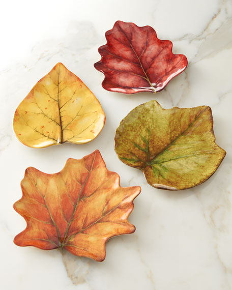 Juliska Forest Walk Leaf Plates, 4-Piece Set