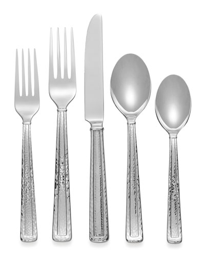 5-Piece Hammertone Flatware Place Setting