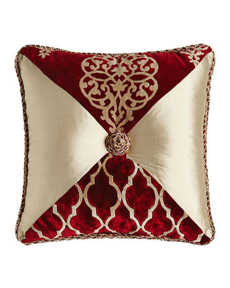 "Camelot Pieced Pillow, 18""Sq."