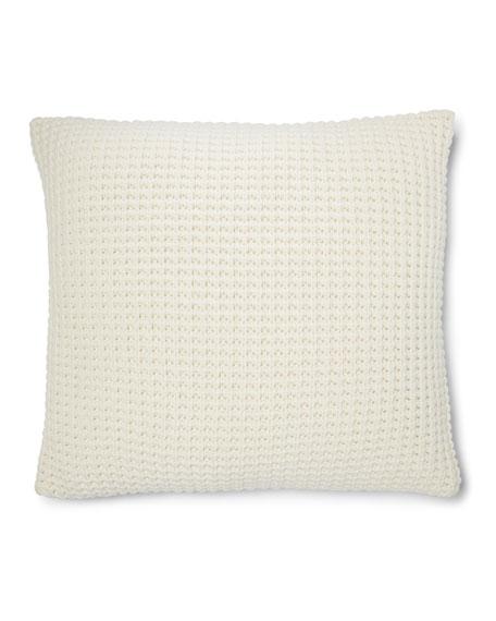 "Hoxton Miller Waffle-Knit Pillow, 18""Sq."