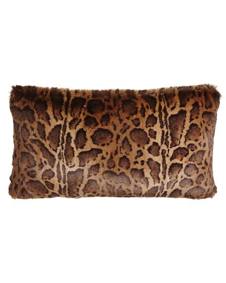 """Kilimanjaro Faux-Fur Pillow, 13"""" x 25"""""""