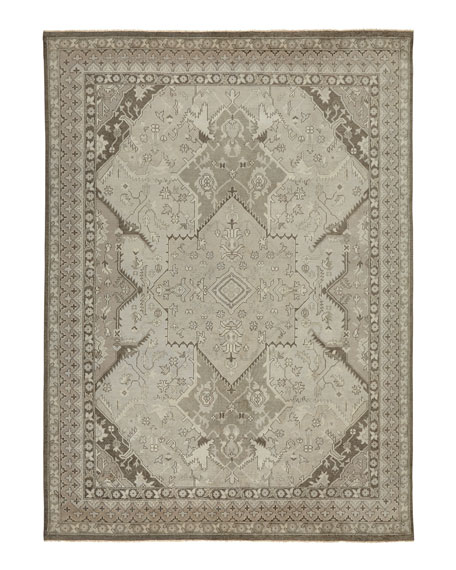Reynolds Dove Gray Rug, 6' x 9'