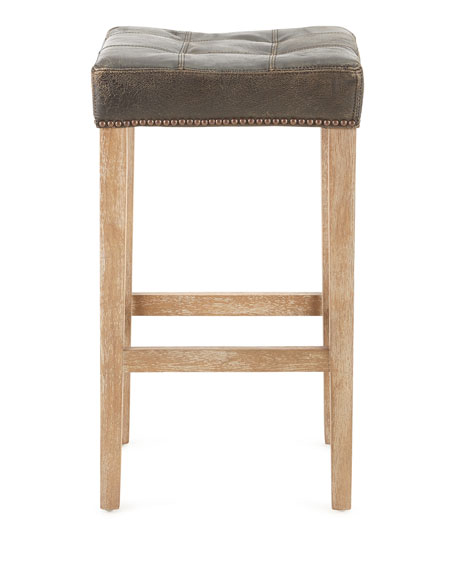 Willoughby Leather Barstool