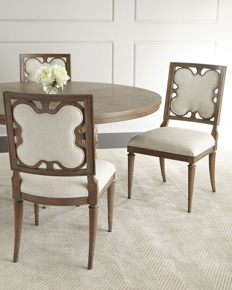 Linen Clover Side Chair