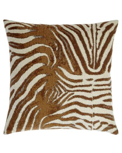 Zebrana Tan Pillow