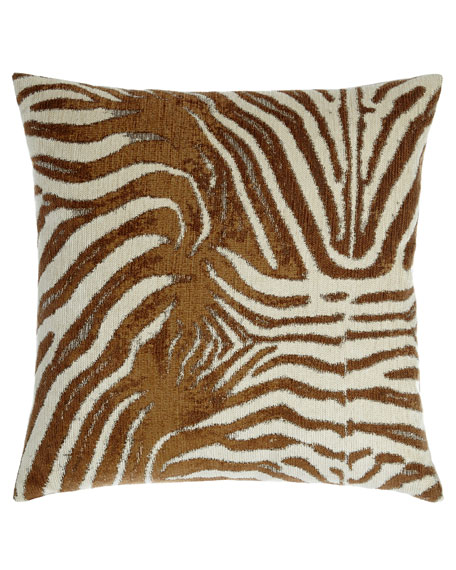 Zebrana Tan Pillow