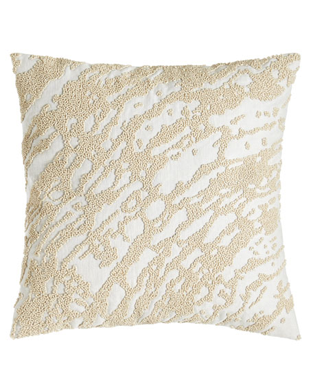 "Rhythm Abstract Beaded Pillow, 14""Sq."