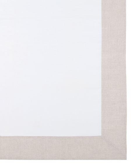 """Hamptons Beige Tablecloth, 70"""" x 144"""""""