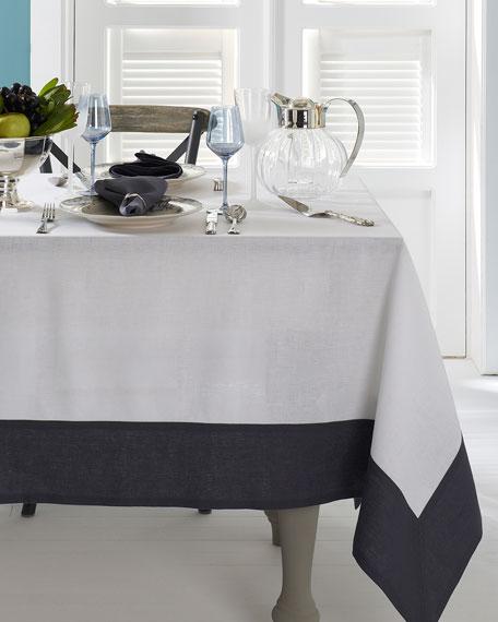 "Hamptons Gray Tablecloth, 70"" x 128"""