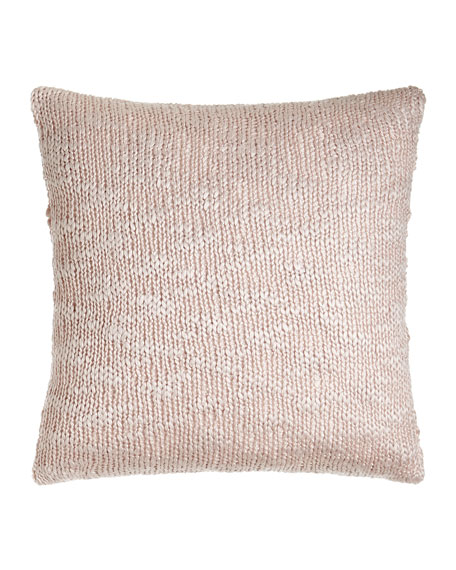 "Declan Knit Pillow, 20""Sq."