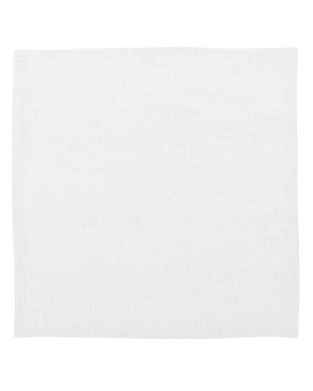 Hamptons White Linen Napkins, Set of 4
