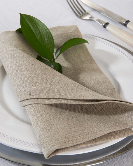 Hamptons Beige Linen Napkins, Set of 4
