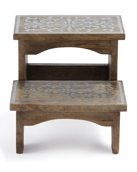 Wood & Metal Step Stool