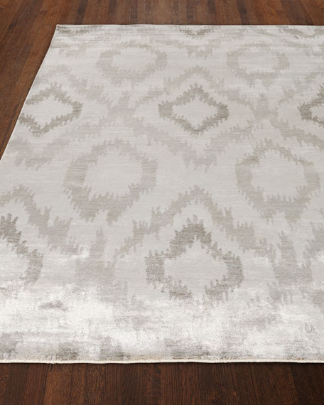 Exquisite Rugs Mesa Hand-Knotted Silver Rug, 6' x