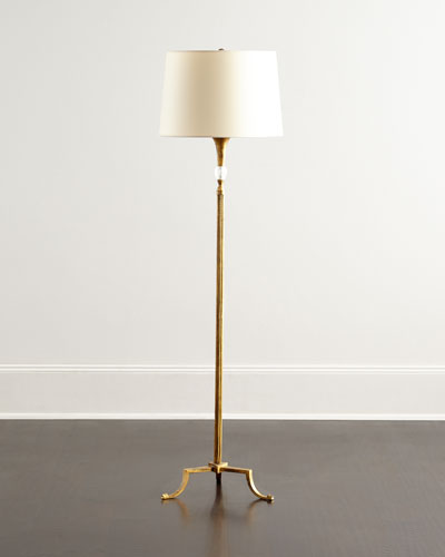 Floor lamps crystal brass floor lamps at neiman marcus horchow maurice floor lamp aloadofball Choice Image