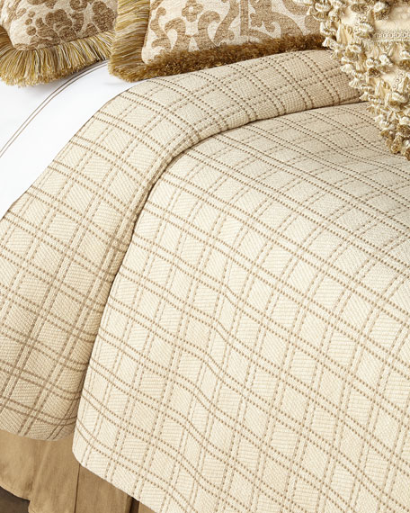 Queen Vermont Plaid Coverlet