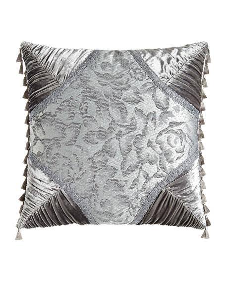 """Platinum Posey Pieced Pillow, 20""""Sq."""
