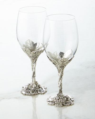 Grape Wine Glasses, Set of 2
