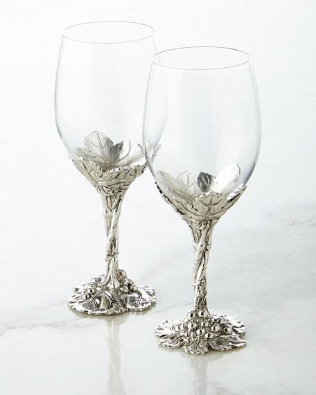 Arthur Court Designs Grape Wine Glasses Set Of 2