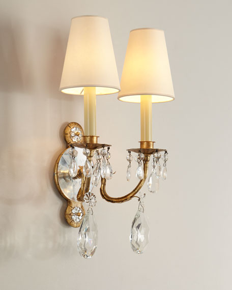 Yves Crystal Double-Arm Sconce