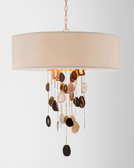 John-Richard Collection Falling Agate 6-Light Chandelier