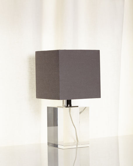 regina andrew design mini crystal block lamp. Black Bedroom Furniture Sets. Home Design Ideas