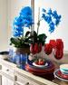 Majestic Blue Orchids Faux Floral