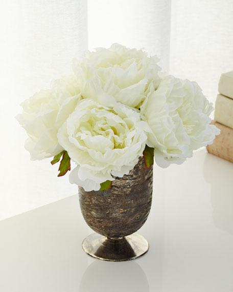 Lace Roses Faux-Floral Arrangement