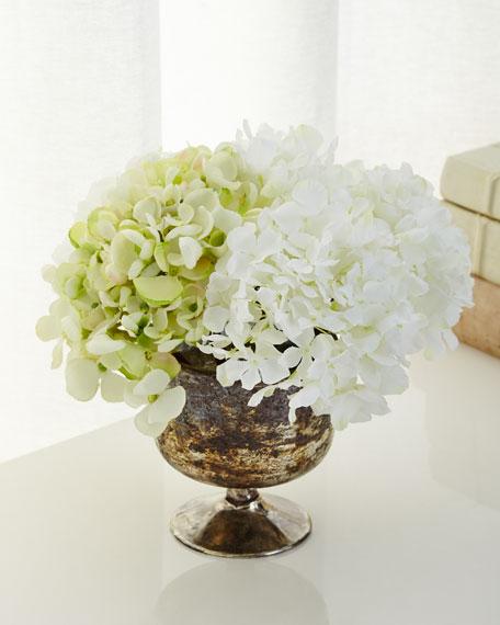 Luxe Hydrangea Faux-Floral Arrangement