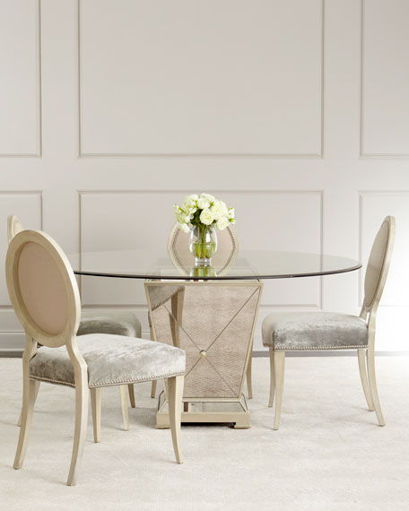 Milo mirrored dining table watchthetrailerfo