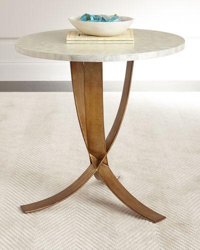 HCH8QE2 mk Global Views Olivia Marble Top Coffee Table