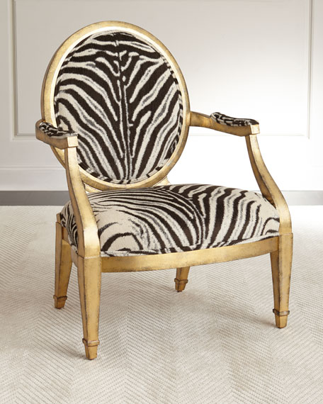 Missoni Style Print Accent Chair: Marlon Zebra-Print Accent Chair