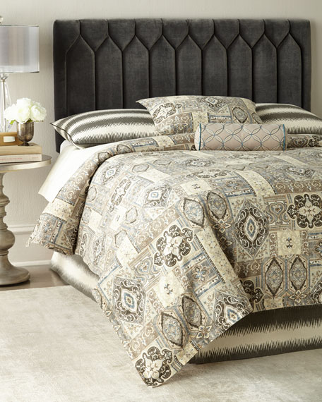 Diamond-Tufted King Headboard