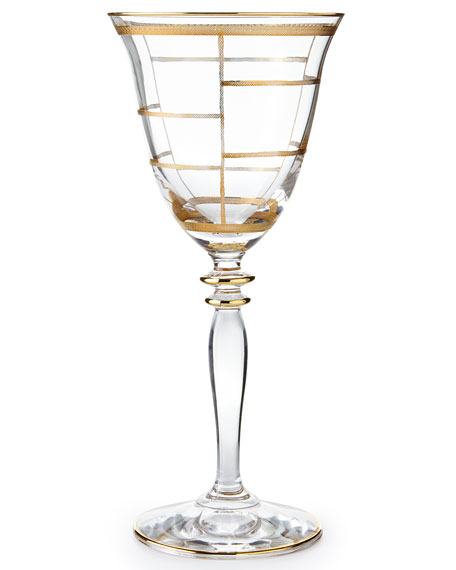 Elegant Grid Wine Glass
