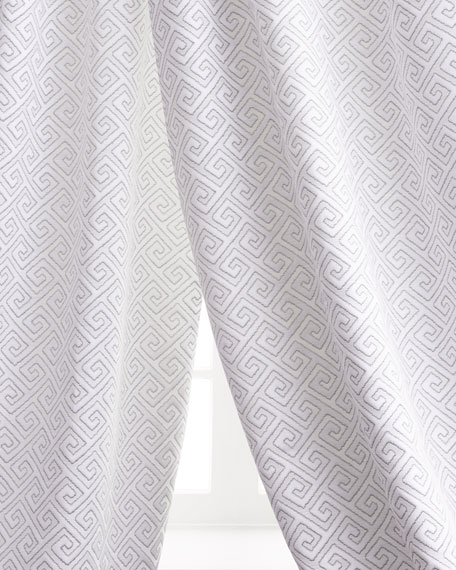 "Two 96""L Greek Key Curtains"