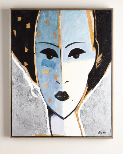 Madame X Blue Giclee on Canvas Wall Art