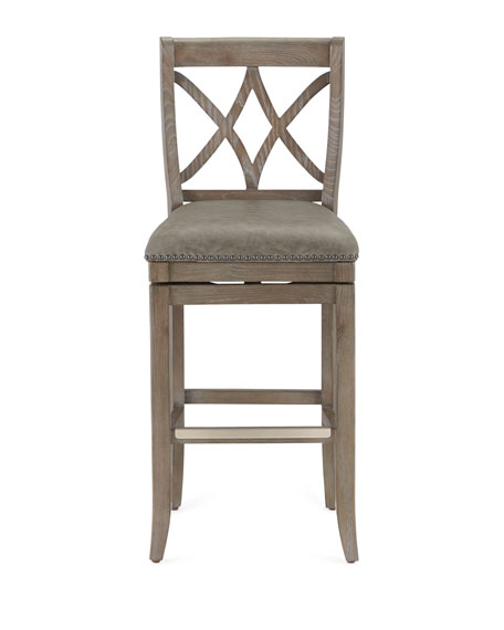Hartford Leather Barstool