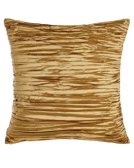 Valour Pleated Gold Pillow