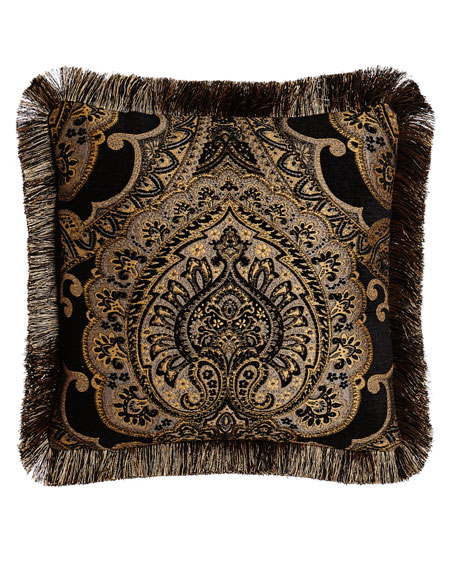 Valour Reversible Pillow with Fringe